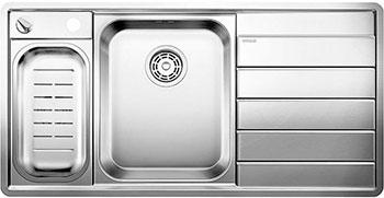 Кухонная мойка BLANCO AXIS 6 II S-IF (чаша слева) нерж.сталь зеркальная полировка с клапаном-автоматом
