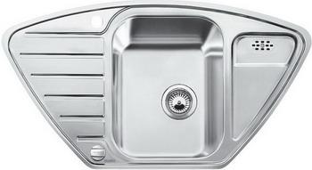 Кухонная мойка BLANCO LANTOS 9E полированная нерж. сталь с клапаном-автоматом кухонная мойка blanco andano 500 180 u нерж сталь полированная с клапаном автоматом правая