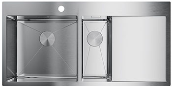 Кухонная мойка OMOIKIRI Akisame 100-2-IN-L нерж.сталь/нержавеющая сталь (4973544) omoikiri tovada oto 49 1 in