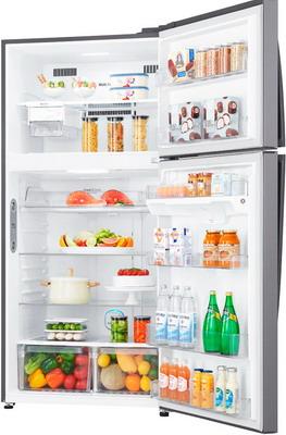 Двухкамерный холодильник LG GR-H 802 HMHZ купить холодильник toshiba gr rg59rd gu
