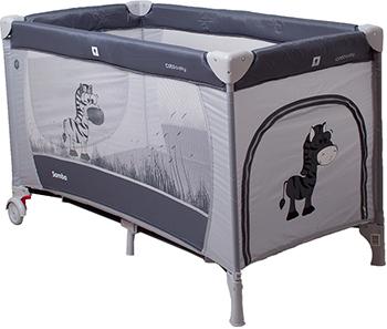 Туристическая кроватка - манеж CotoBaby САМБА ПРОСТЕ Серый YASH 66662