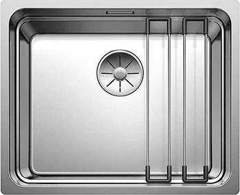 Кухонная мойка BLANCO ETAGON 500 - U нерж.сталь зеркальная полировка без клапана автомата 521841 мойка кухонная blanco andano 450 u нерж сталь зеркальная полировка без клапана автомата 522963 519373