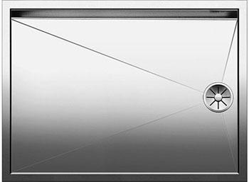 Кухонная мойка BLANCO ZEROX 550-T-U нерж. сталь зеркальная полировка без клапана авт 521561 blanco zerox 450 u нерж сталь зеркальная