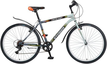 Велосипед Stinger 26'' Defender 18'' серый 26 SHV.DEFEND.18 GR6 велосипед challenger agent lux 26 черно серый 18