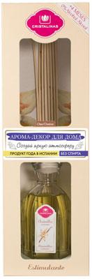 Арома-диффузор CRISTALINAS Mikado для жилых помещений с ароматом ванильного крема 180мл парфюм для дома cristalinas cristalinas natural wood палочки ротанговые натуральные 7 шт