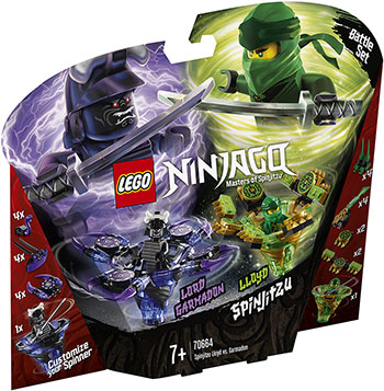 Конструктор Lego Ллойд мастер Кружитцу против Гармадона 70664 Ninjago Masters of Spinjitzu конструктор lepin ninjago акула гармадона 929 дет 06067