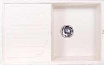 Кухонная мойка Weissgauff QUADRO 800 Eco Granit белый  кухонная мойка weissgauff quadro 775 k eco granit белый