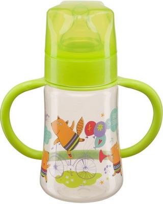 Набор для кормления детей Happy Baby BABY BOTTLE 10008 LIME бутылочка для кормления happy baby с ручками и силиконовой соской baby bottle lilac 10008 широкое горлышко 250 мл