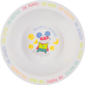 Тарелка глубокая Happy Baby FEEBING BOWL 15016 MOUSE
