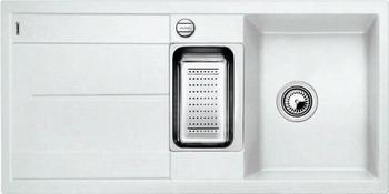 Кухонная мойка BLANCO METRA 6S SILGRANIT белый мойка blanco classik 45s silgranit 521308 антрацит