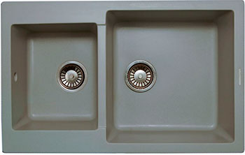 Кухонная мойка LAVA D.3 (SCANDIC серый) кухонная мойка lava a 2 scandic серый