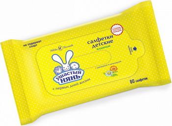 Салфетки детские Ушастый нянь очищающие 80 шт