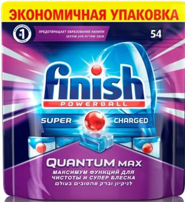 Таблетки для мытья посуды FINISH QUANTUM Max 54шт finish finish quantum shine