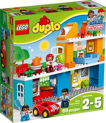 Конструктор Lego DUPLO TOWN Семейный дом 10835 конструктор lego duplo town большой парк аттракционов 10840