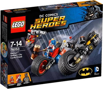 Конструктор Lego SUPER HEROES Бэтман: погоня на мотоциклах по Готэм-сити 76053 super weird heroes outrageous but real