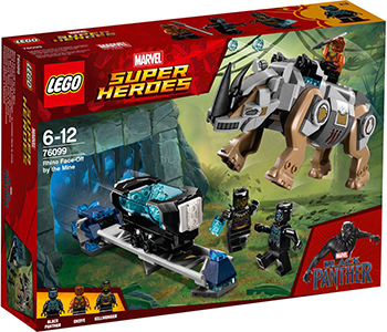 Конструктор Lego Super Heroes Поединок с Носорогом 76099 2017 new classics figures series 4 xh super heroes building block toys wolverine mystique winter soldier war machine