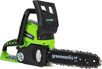 Цепная пила Greenworks 24 V G 24 CS 25 С аккумулятором и зарядным устройством 2000007 VA аккумуляторная цепная пила greenworks 40v g max g40cs30 с аккумулятором 2ah и зарядныйм устройством