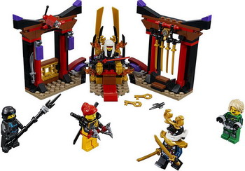 Конструктор Lego Ninjago: Решающий бой в тронном зале 70651 дрель jonnesway jad 6234 с реверсом 1800 об мин 113л м 47105