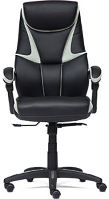 Кресло Tetchair CAMBRIDGE кож/зам/ткань черный/св.серый 36-6/14 кресло tetchair runner кож зам ткань черный жёлтый 36 6 tw27 tw 12