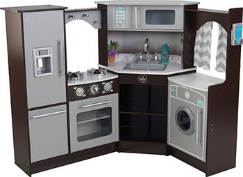 Большая детская игровая кухня KidKraft «Эспрессо-Интерактив» угловая 53365_KE кукольные домики и мебель kidkraft игровая угловая кухня 53368 ke