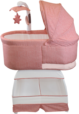 Детская кроватка BLISS Deluxe Коралловый меланж BA 302-VCO