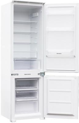Встраиваемый двухкамерный холодильник Shivaki BMRI-1774 холодильник shivaki bmr 2013dnfw двухкамерный белый