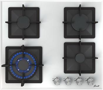 Встраиваемая газовая варочная панель FORNELLI PGT 60 CALORE WH варочная панель fornelli pgt 60 calore black