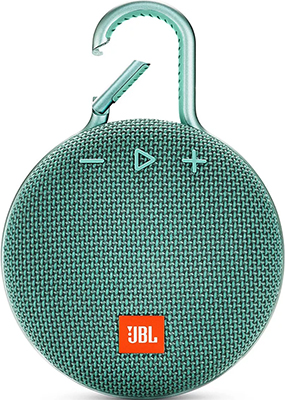 Портативная акустическая система JBL Clip 3 бирюзовый JBLCLIP3TEAL акустическая система jbl charge 3 бирюзовый jblcharge3tealeu