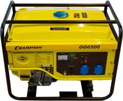 Электрический генератор и электростанция Champion GG 6500 бензиновый генератор кратон gg 5500m