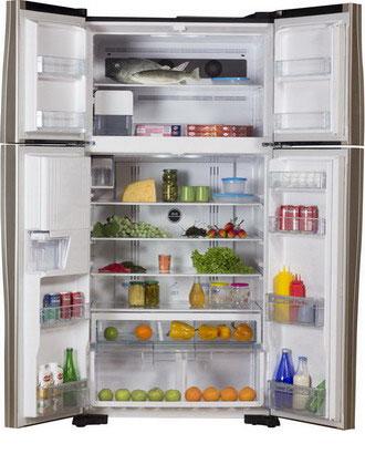 Холодильник Side by Side Hitachi R-W 722 FPU1X GGR двухкамерный холодильник hitachi r wb 482 pu2 ggr