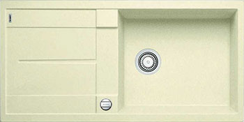Кухонная мойка BLANCO METRA XL 6 S-F жасмин  с клапаном-автоматом мойка кухонная blanco elon xl 6 s шампань с клапаном автоматом 518741