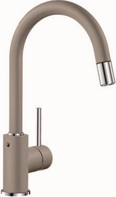 Кухонный смеситель BLANCO MIDA-S SILGRANIT серый беж смеситель для кухни blanco linus silgranit серый беж 517622