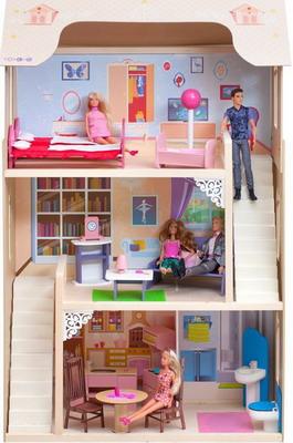 Кукольный дом Paremo Шарм с 16 предметами мебели  2 лестницами PD 315-02