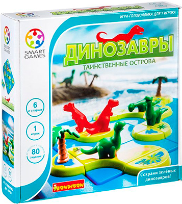 Настольная игра Bondibon Динозавры.Таинственные острова ВВ1883 игра bondibon детектор лжи вв2110