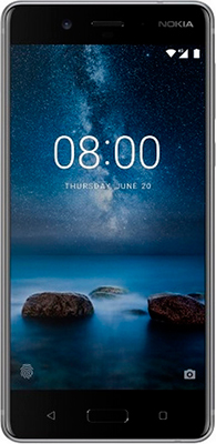 Смартфон Nokia 8 Dual sim серебристый + наушники беспроводные JBL V 310 BT lsqstar 8 android4 0 capacitive screen car dvd player w gps fm bt wifi swc tv aux for toyota prius