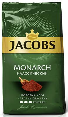 Кофе молотый Jacobs Monarch натуральный жареный молотый 230 г (4251755) barista mio кофе молотый классический 250 г