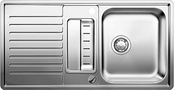 Кухонная мойка BLANCO 523663 CLASSIC PRO 5 S-IF нерж.сталь зерк.полировка с клапаном-автоматом InFino мойка classic pro 45 s if 516842 blanco