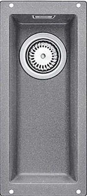 Кухонная мойка BLANCO 523398 SUBLINE 160-U SILGRANIT алюметаллик c отв.арм. InFino blanco statura 160 u