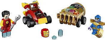 Конструктор Lego SUPER HEROES Mighty Micros: Железный человек против Таноса 76072-L single sale mighty micros robin bane ultron batman super heroes justice league minifig model building blocks kids toys
