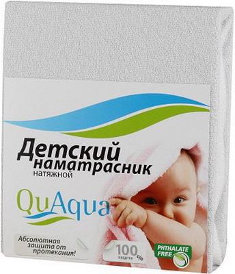 Наматрасник QuAqua Caress 65х125 белый (670056) наматрасники forest непромокаемый натяжной наматрасник caress махра 120х60 см