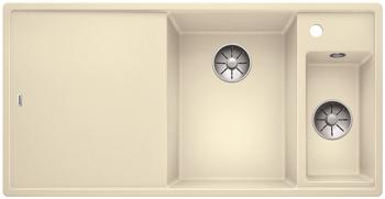 Кухонная мойка BLANCO AXIA III 6 S-F InFino Silgranit жасмин правая ( доска ясень) 523487 мойка axia ii 6 s f rock grey 518834 blanco