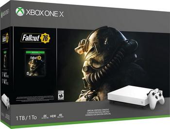 Игровая приставка Microsoft Xbox One X 1 ТБ+ Fallout 76 (FMP-00058) белая ван бяо сск he t200 black hawk ii 2 5 yingcun usb2 0 hdd enclosure шата поддержка интерфейса ноутбук жесткий диск поддержка ssd черный