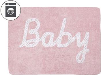 Ковер Lorena Canals с надпсиью Baby розовый 120*160 C-BABY-P