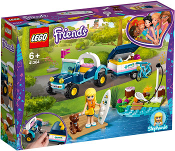 Конструктор Lego Багги с прицепом Стефани 41364 Friends figures houses girl friends stephanie mia olivia andrea emma andrea blocks learning toy gift compatible with with friends gift
