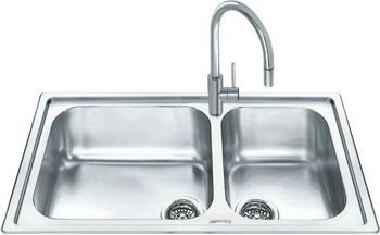 Кухонная мойка Smeg LGM 862 кухонная мойка smeg lgm 861 s 2