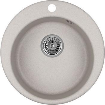 Кухонная мойка Weissgauff RONDO 480 Eco Granit серый шелк  цена и фото