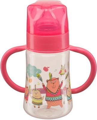 Набор для кормления детей Happy Baby BABY BOTTLE 10008 RED бутылочка для кормления happy baby с ручками и силиконовой соской baby bottle lilac 10008 широкое горлышко 250 мл