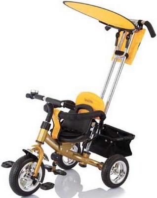 Велосипед с ручкой-толкателем Jetem Lexus Trike Next Generation желтый