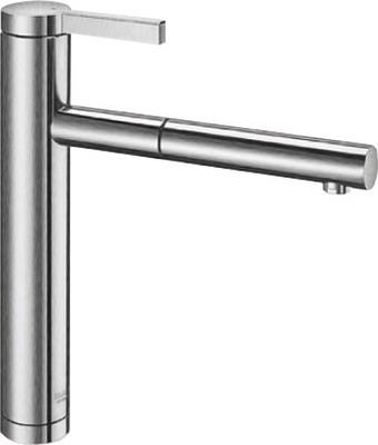 Кухонный смеситель BLANCO LINEE-S нерж. сталь матовая полировка  смеситель linee chrome 517594 blanco