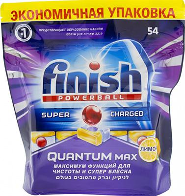 Таблетки для мытья посуды FINISH Quantum MAX Лимон 54 шт finish finish quantum shine